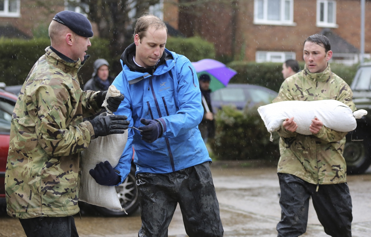 Prince William in action