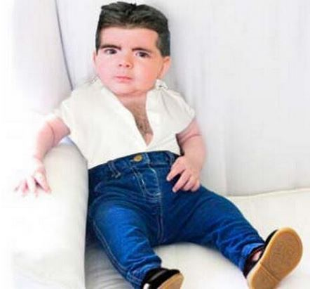 Simon Cowell baby's meme's hit Internet