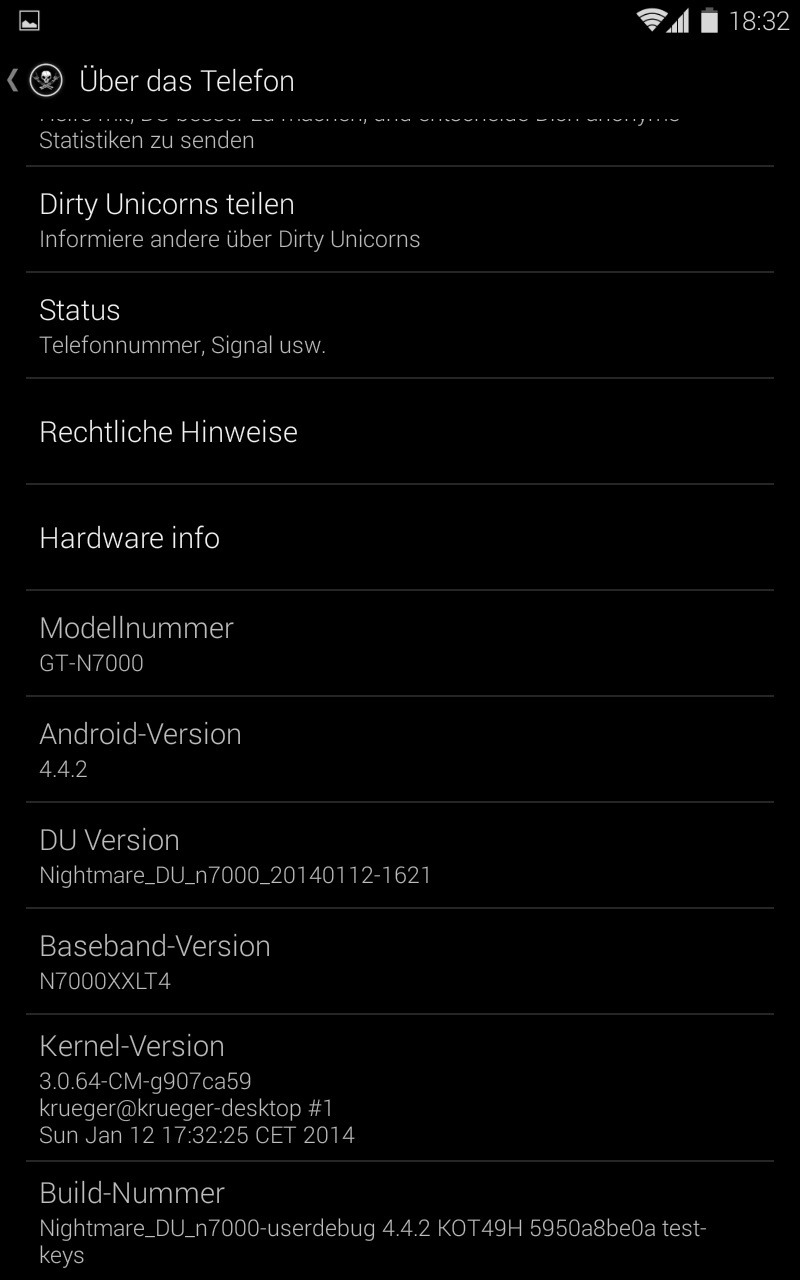 Update Galaxy Note N7000 to Android 4.4.2 KitKat via Dirty Unicorns ROM