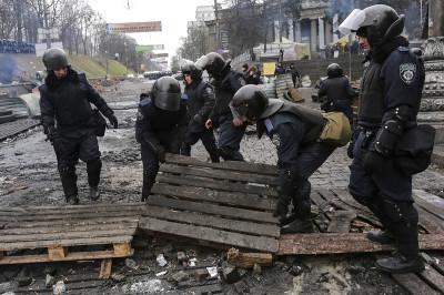 police demolish