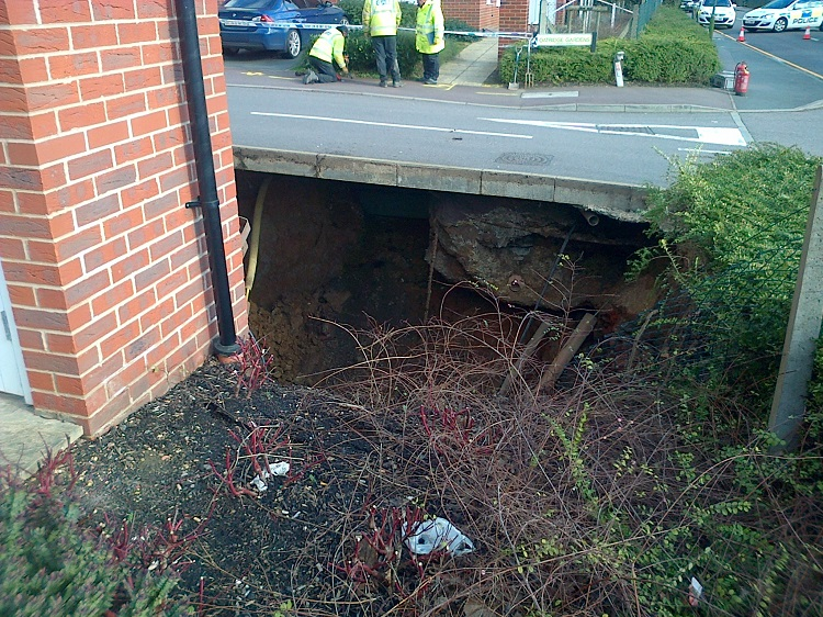 Huge sinkhole discovered in Hemel Hempstead