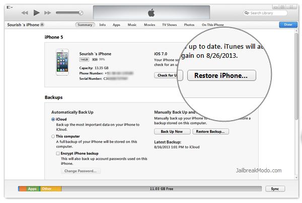 restore ipad ios