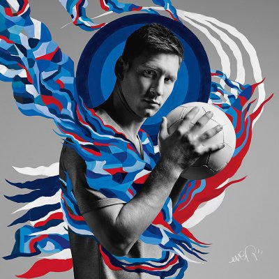 Lionel Messi, by Argentinean street artist Ever