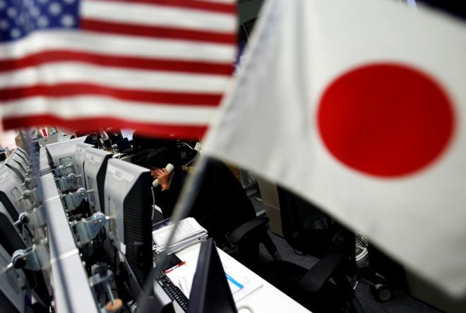 US Japan Flags