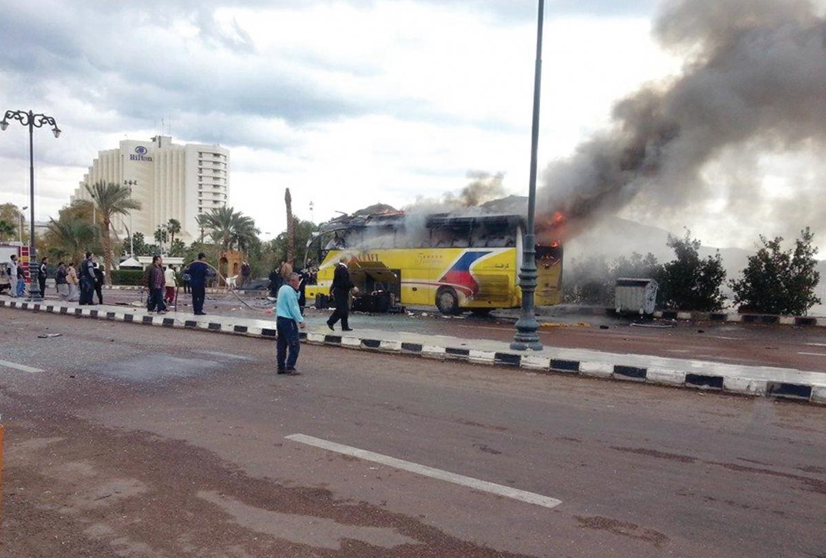 Egypt Sinai Bus Bomb Tourists Tourism