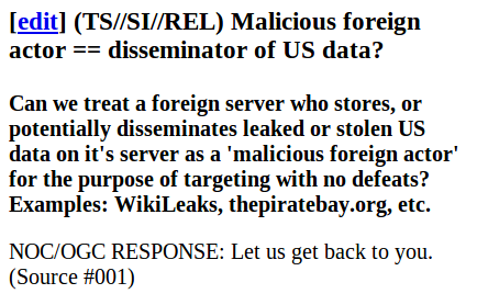 Wikileaks NSA transcript