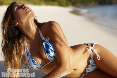 Anastasia Ashley was photographed by Adam Franzino on Guana Island, British Virgin Islands