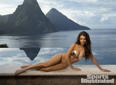 Emily Ratajkowski was photographed in St Lucia by Walter Iooss Jr