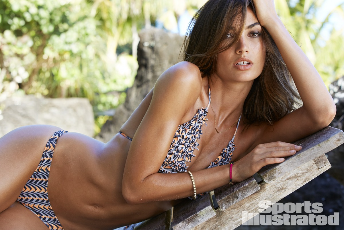 Lily Aldridge was photographed in Rarotonga, Cook Islands, by James Macari