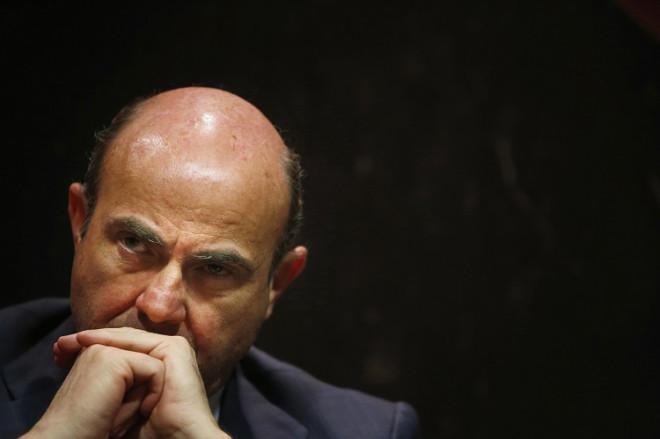 Spain's Economy Minister Luis de Guindos