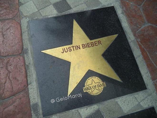 Bieber walk of fame
