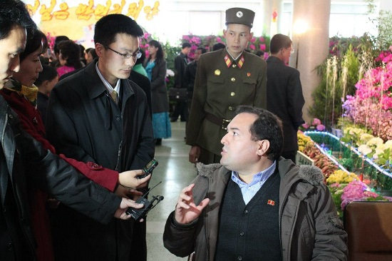 The author meets some of North Korea's top brass