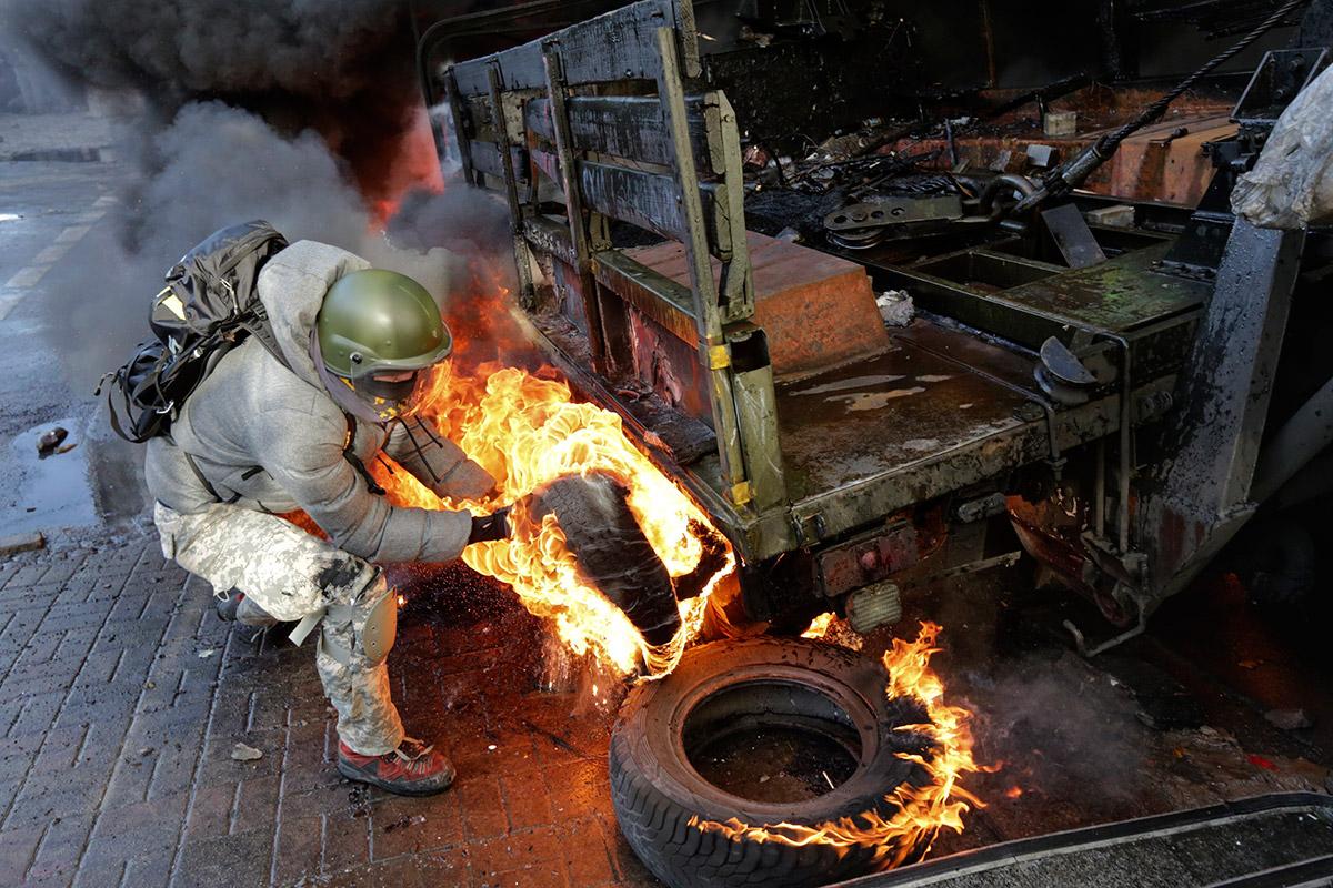 burning tyre