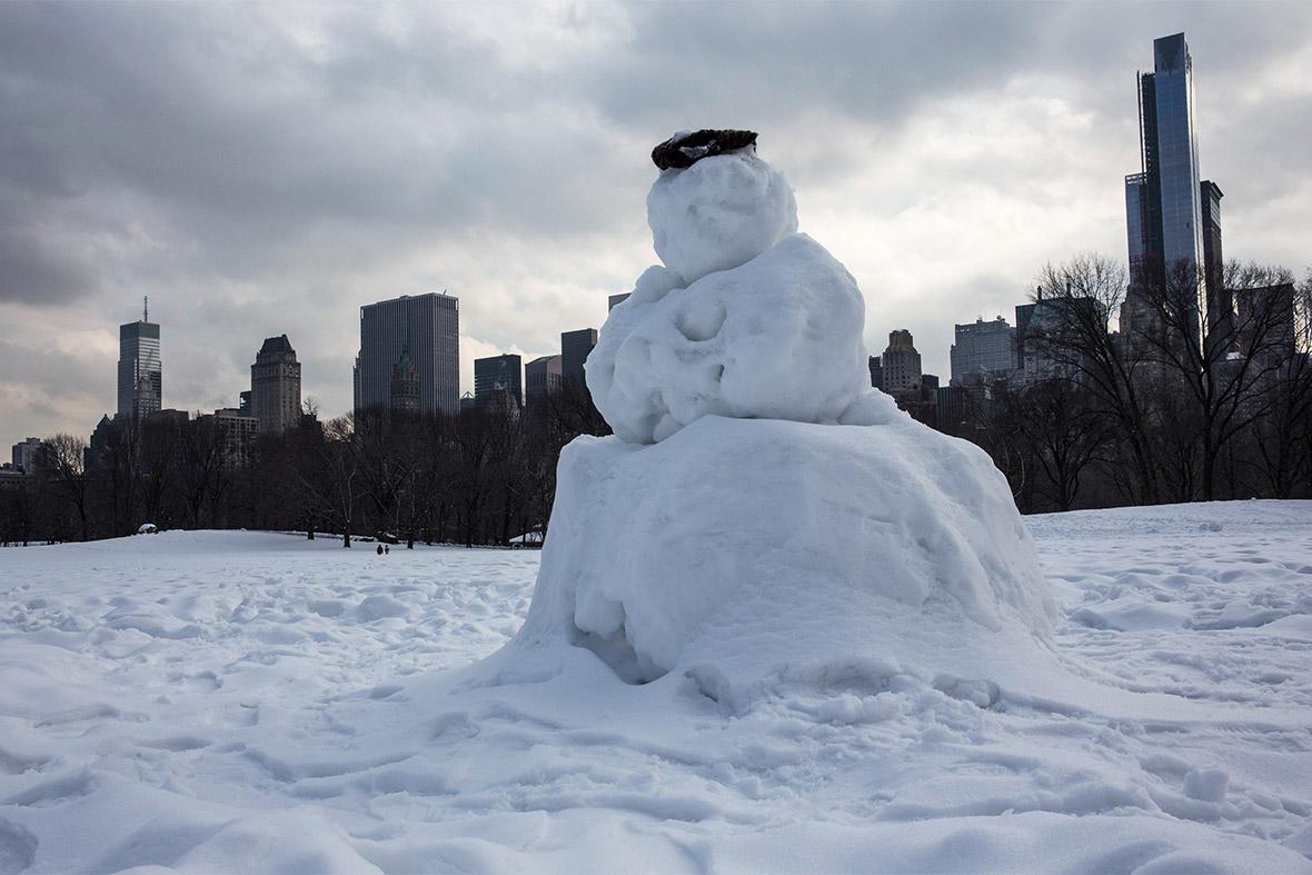 New York snowman