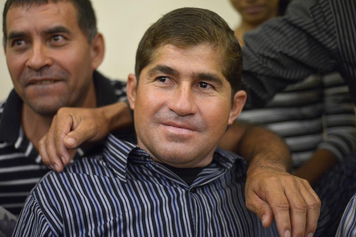 Jose Salvador Alvarenga at press conference with his family