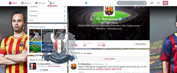 Barcelona FC Twitter Account Hacked Syrian Electronic Army