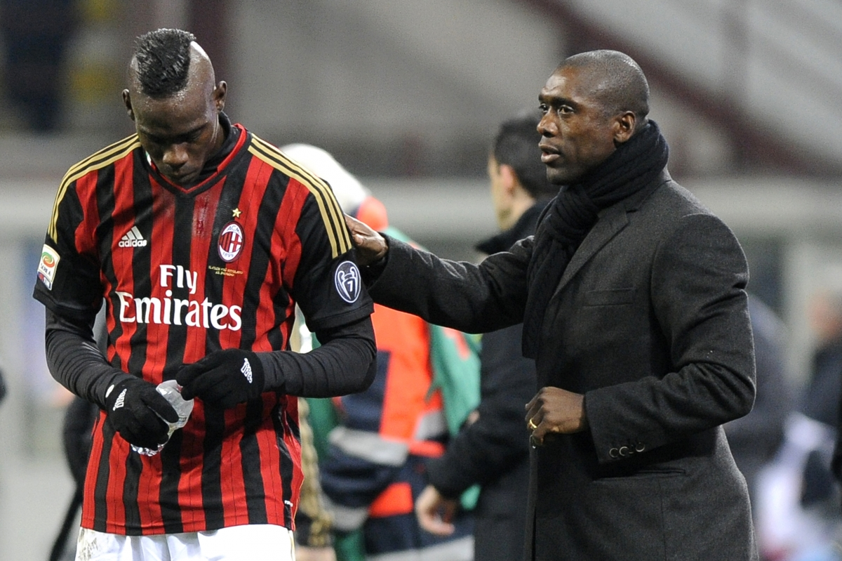 Mario Balotelli and Clarence Seedorf
