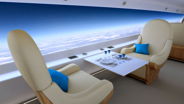 The Spike S-512 supersonic jet will feature a window-less cabin with a screen