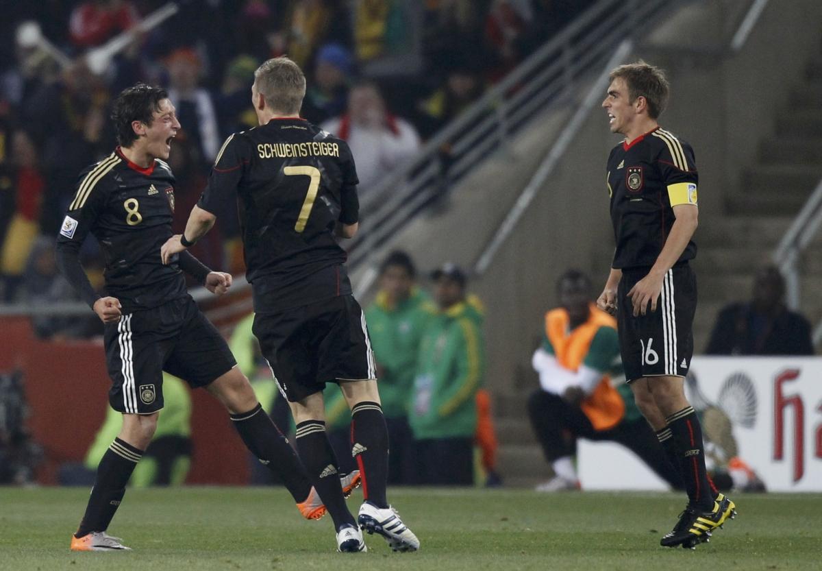 Mesut Ozil and Philipp Lahm
