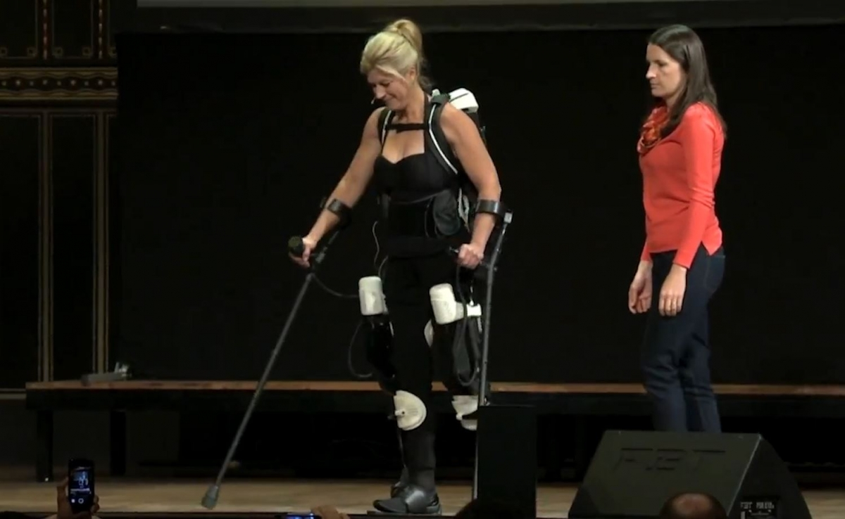First 3D Printed Hybrid Robotic Exoskeleton Helps Paraplegic Woman Walk Again