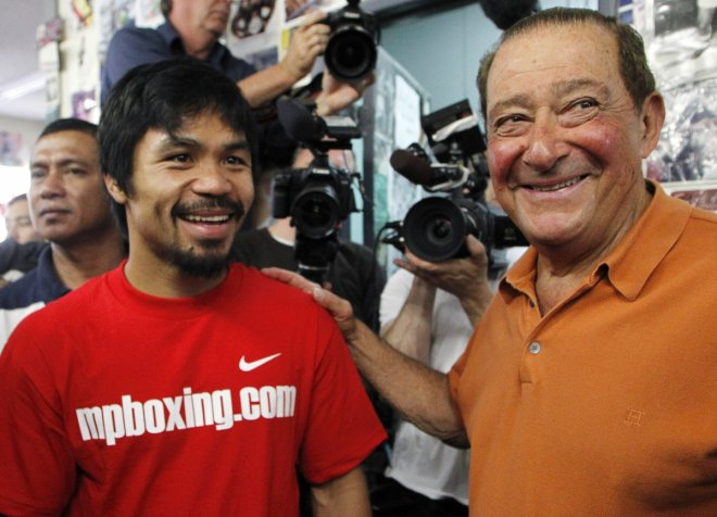 Manny Pacquiao and Bob Arum