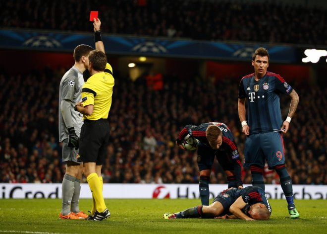 Arsenal red card penalty