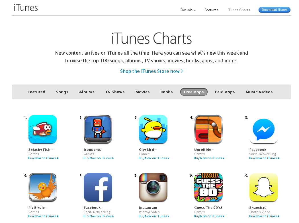 flappy bird clones on top of app store charts