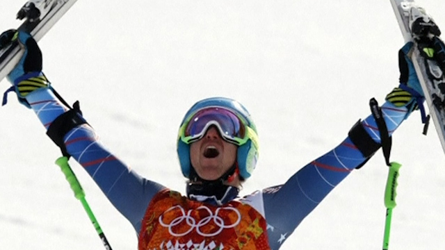 American Ted Ligety Wins Gold in Giant Slalom