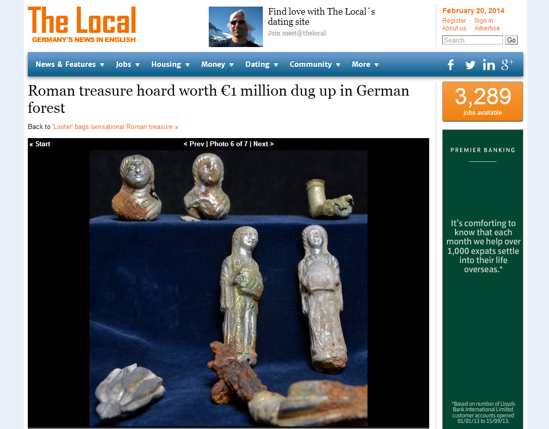 Roman hoard could possibly be legendary Nibelung treasure