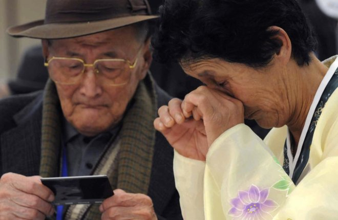 Reunions between families from North and South Korea are emotionally charged affairs