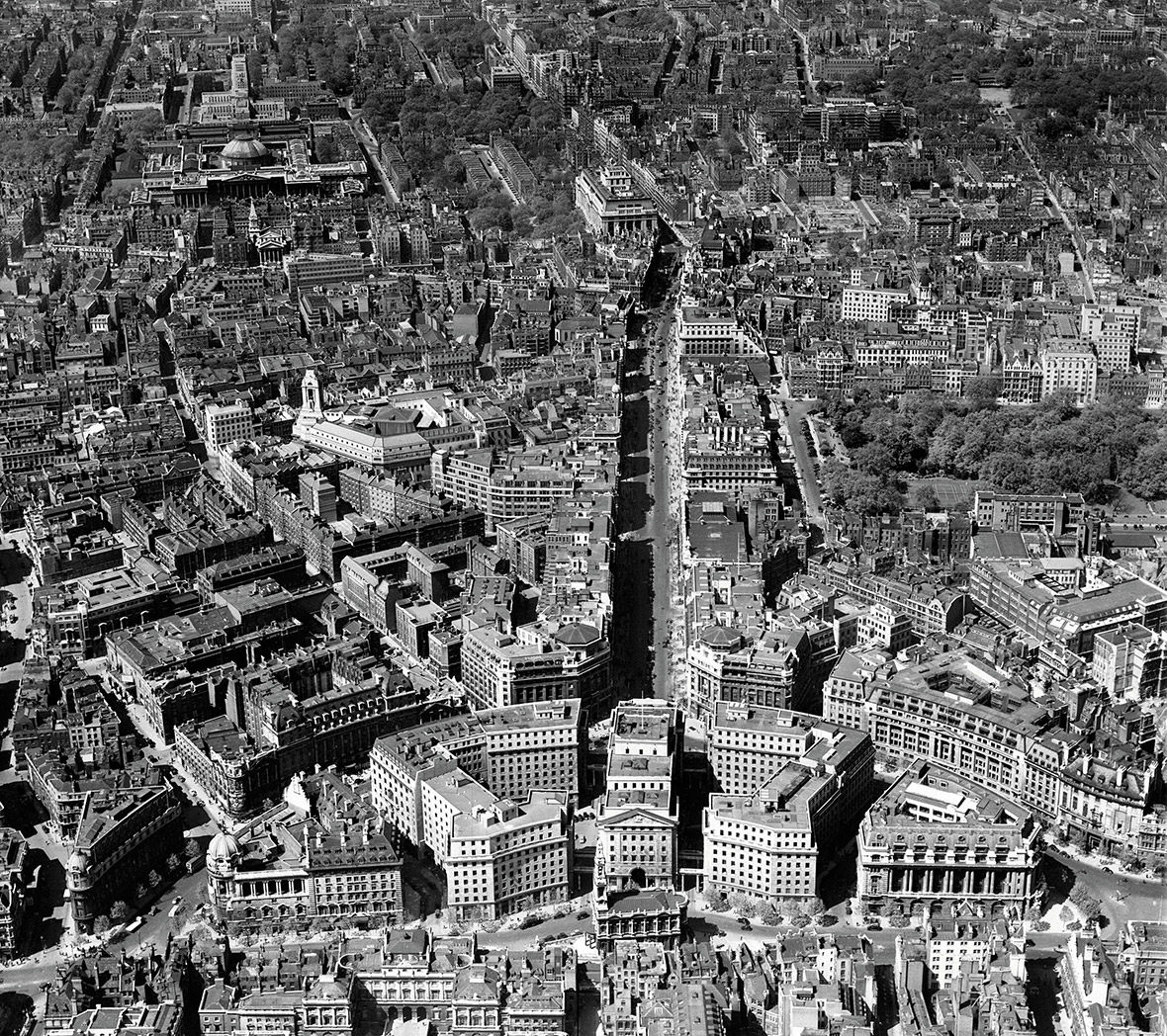 Bush House, Kingsway and the British Museum, Westminster, 1946