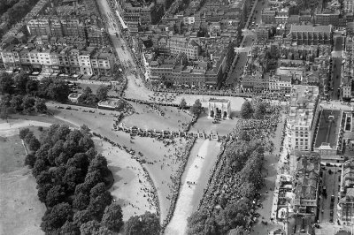 Hyde Park, the homecoming parade of the Prince of Wales, 1922