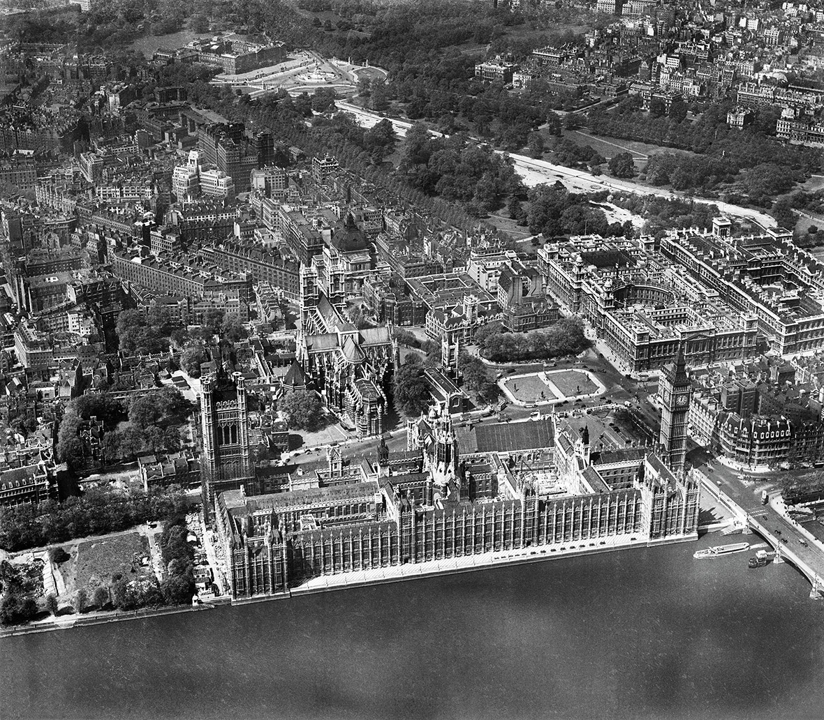 The Houses of Parliament and Westminster Abbey, Westminster, 1946
