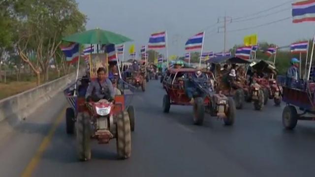 Tractors Descend Upon Bangkok