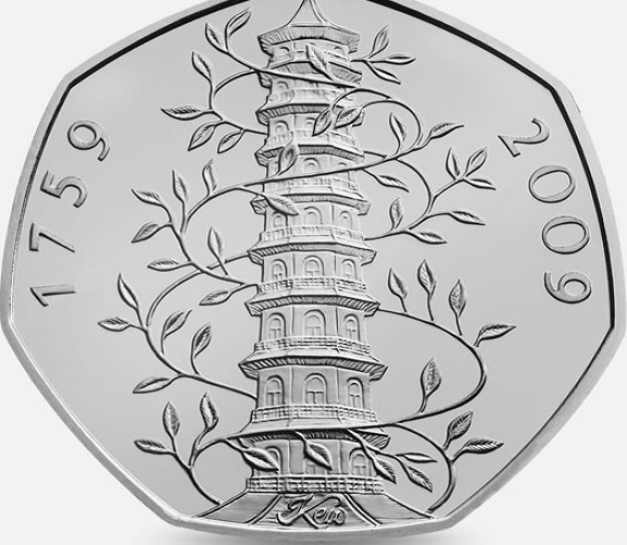 50 pence coins to mark Kew Gardens 250th anniversary are selling for more than £100 online
