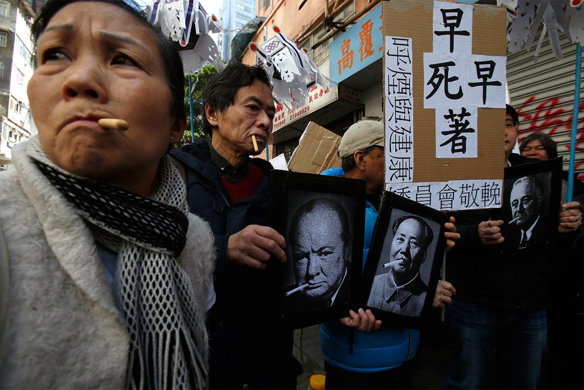smoking protest