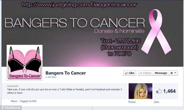 Bangers to Cancer Facebook Page