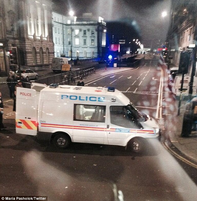 Police blocked London roads after investigating a drive-by shooting