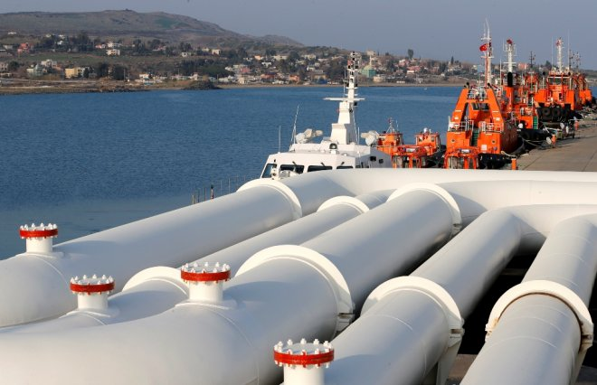 Oil Pipes Ceyhan Port Turkey