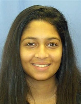 The body of Nadia Malik was found in a snow covered car outside Philadelphia's main train station on Thursday (Marple Township Police)..