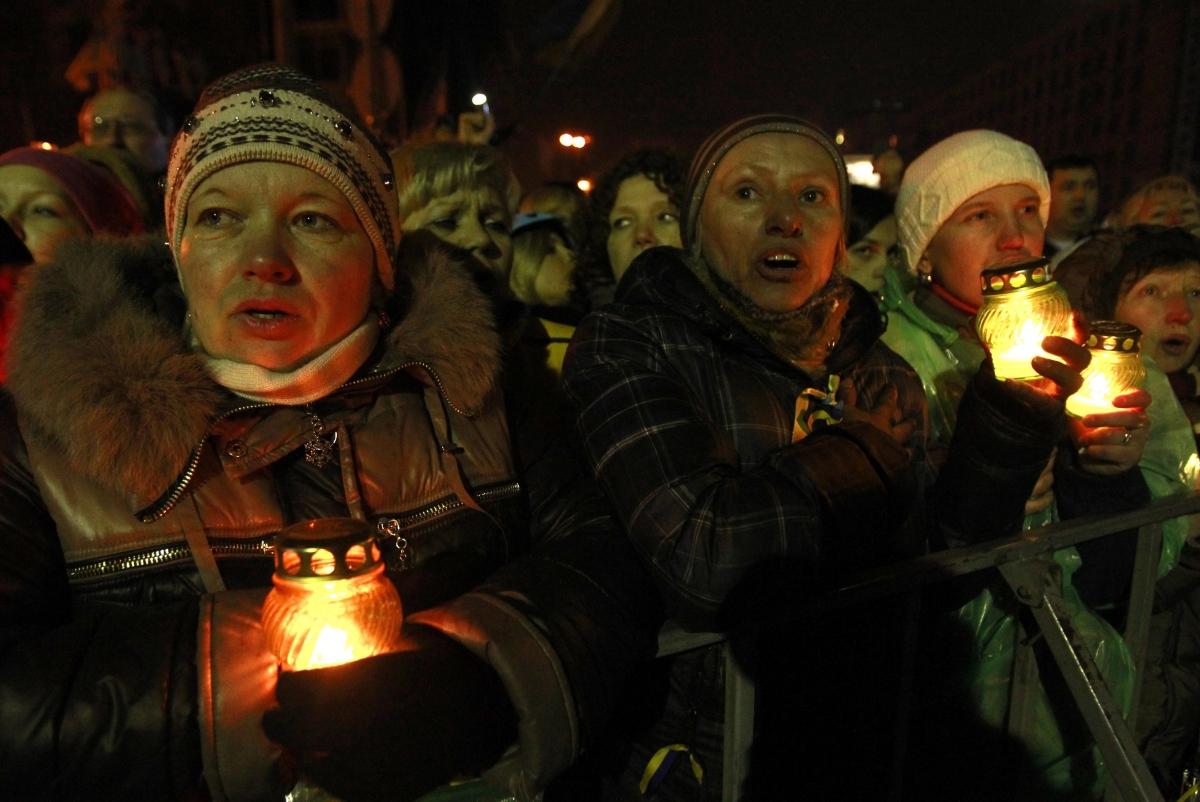 Ukrainian anti government protesters