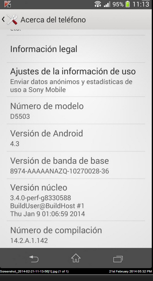 Android 4.3 14.2.A.1.142 Jelly Bean