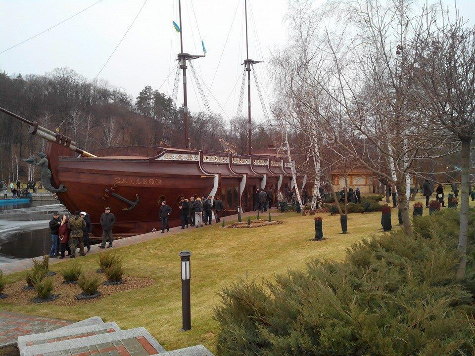 A pirate ship was one of the more surprising finds at ousted president Yanukovich's pleasure palace