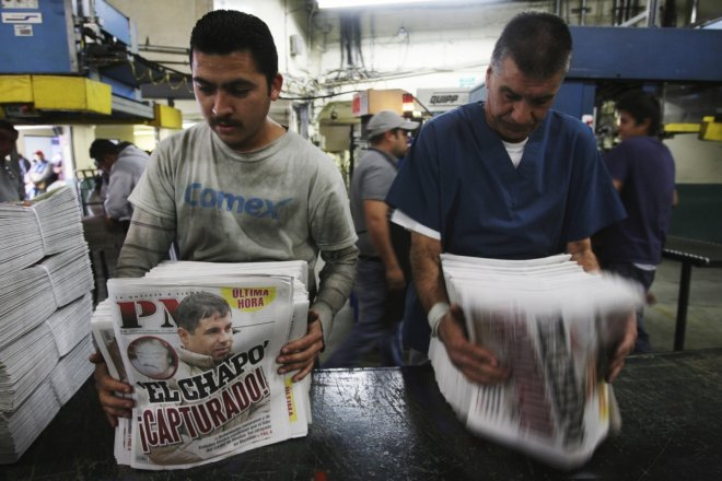'El Chapo captured', reads the headline in the afternoon edition of Mexican daily AP.
