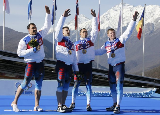Russia Four-man Bobsleigh Team