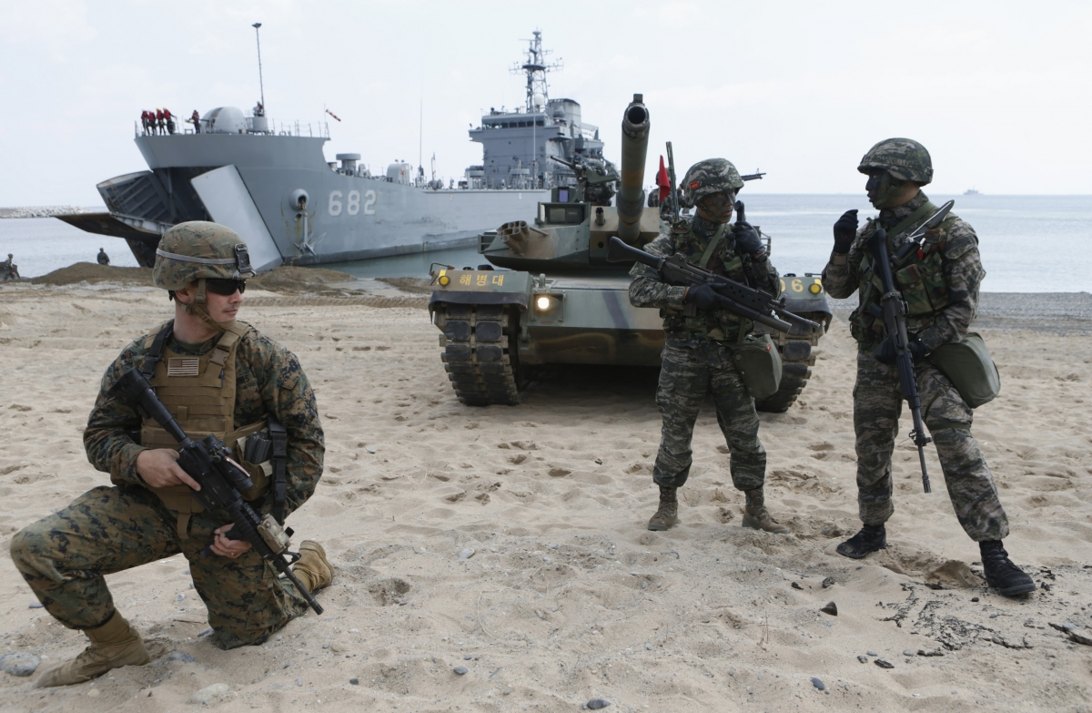 US-South Korea joint military drill begins