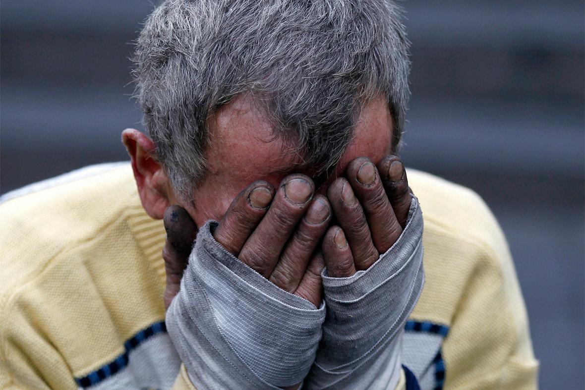 man cry
