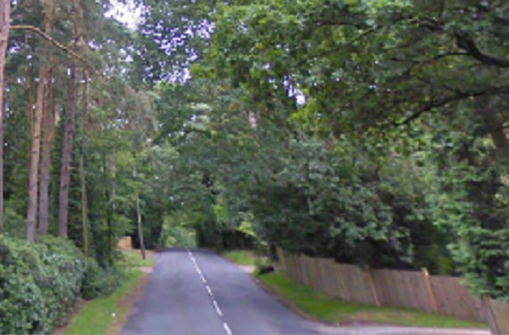 Crooksbury Road in Farnham, Surrey, where police found two women shot dead