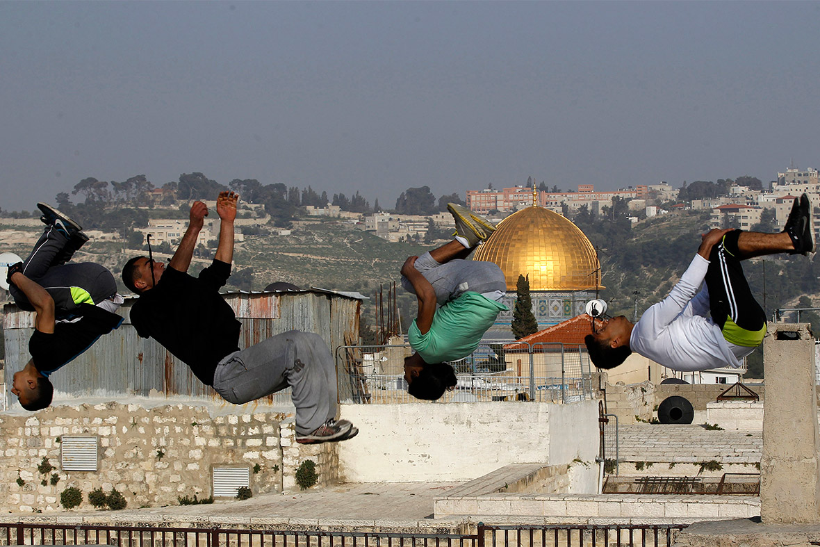 palestine somersaults