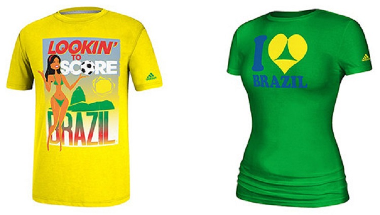 Controversial Brazilian World Cup T-Shirts